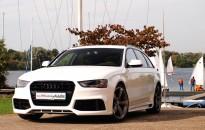 "Audi A4 Avant RS Individual - Aerodynamik-Kit, Leichtmetallräder in 19"", Ganzlackierung in ""pure white"" mit 3-fach Klarlack, etc."