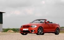 """BMW 1er Cabriolet Individual - Sonderlackierung in sunset flame perleffekt matt mit Kontrastteilen in Klavierlack schwarz, Aerodynamik-Paket, Leichtmetallräder in 19"""", Klappensportauspuffanlage, Tieferlegungs-Kit Bilstein, Umbau Hauptscheinwerfer & Rückleuchten auf """"LCI-Technologie"""", etc."""