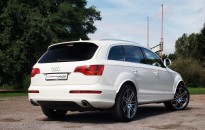 """Audi Q7 Individual - Leichtmetallräder Audi S-Line in 21"""", Tieferlegungsmodul, Scheinwerferblenden, Radlaufverbreiterungen in Wagenfarbe"""